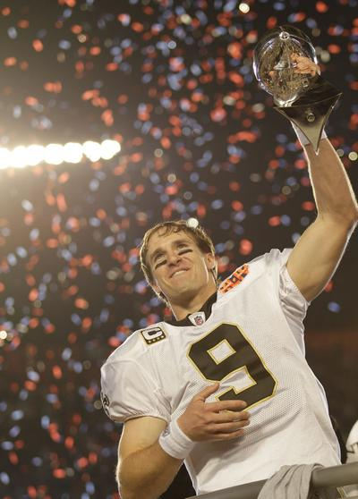 Saints QB Drew Brees is the SI Sportsman of the Year. (AP)