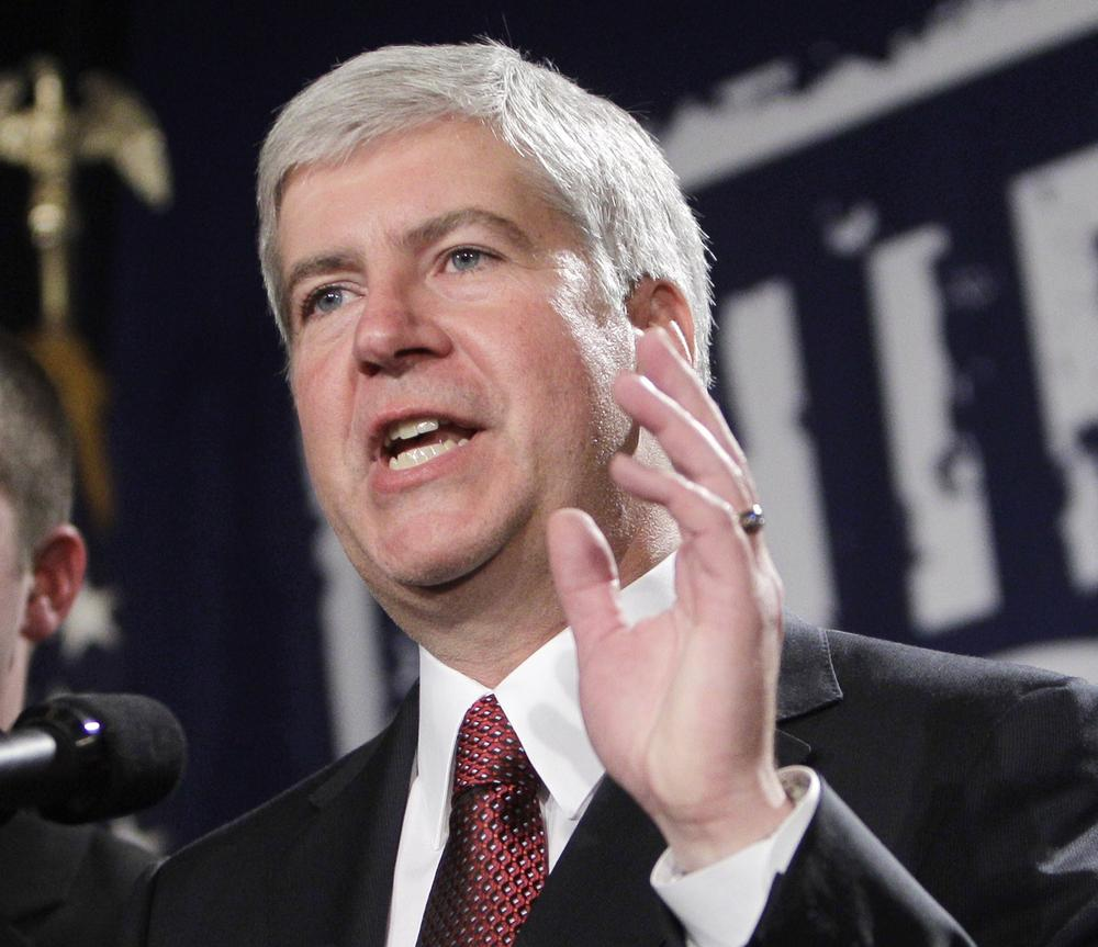 Michigan's Republican Governor-elect Rick Snyder is one of three newly elected Midwest governors who will need to wrangle a large budget deficit. (AP)