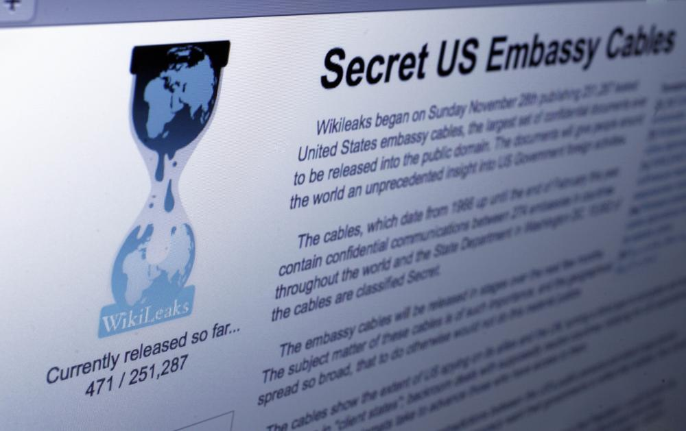 The Internet homepage of the whistle-blowing website Wikileaks. (AP)