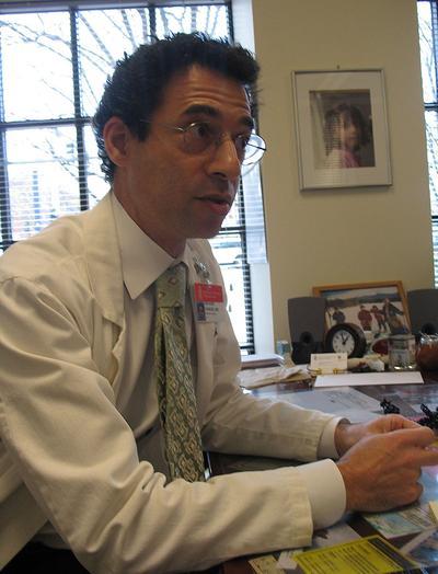 Rich Parker, medical director at the Beth Israel Deaconess Physician Organization (Martha Bebinger/WBUR)