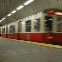 A T train leaving Park St. station (Chris Devers/Flickr)