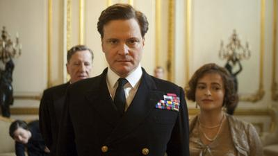 "Geoffrey Rush, Colin Firth and Helena Bonham Carter star in ""The King's Speech,"" which led the Golden Globe nominations. (The Weinstein Co.)"