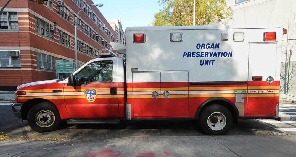 New York City's Organ Preservation Unit truck. (AP/New York City Fire Department)