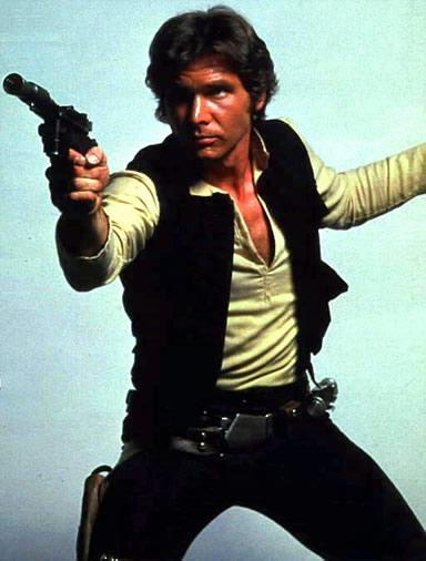 Han Solo, played by Harrison Ford in Star Wars. (Star Wars Generation One)
