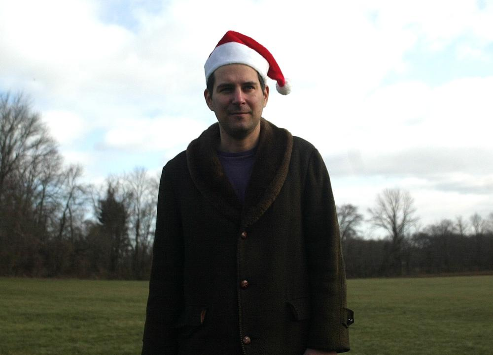 DJ Jon Solomon, who hosts a 24 hour holiday music show each December on WPRB radio in Princeton, New Jersey. (Stephen Goldsmith)