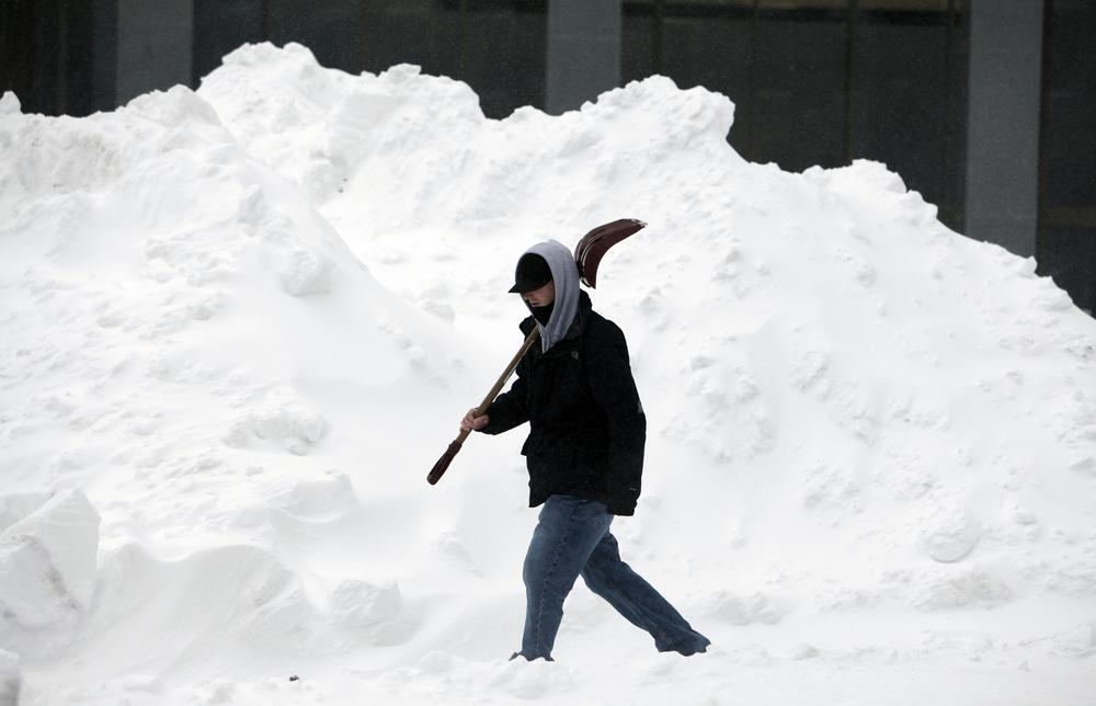 After the storm, Boston's snowfall accumulation is expected to pass the 16-inch mark. (AP)