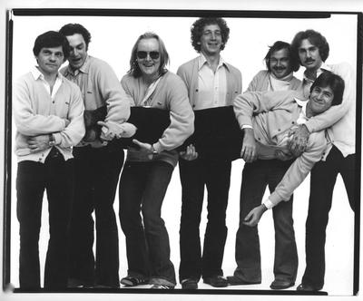 The editors of National Lampoon c.1976. Photo by Chris Callis. (Courtesy Rick Meyerowitz)