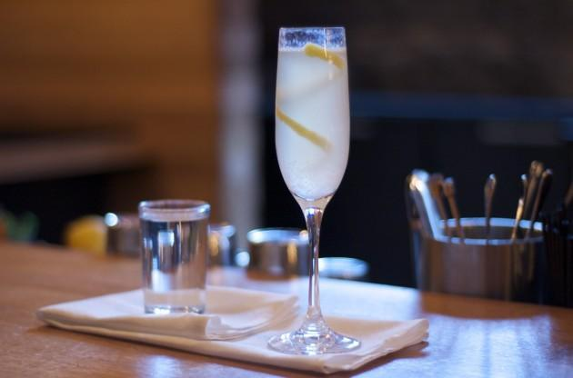 The French 75 at Drink in Fort Point Channel. (Susanna Bolle for WBUR)