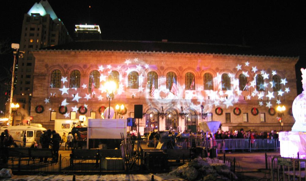 The Boston Public Library was decked out for 2010's First Night. (The Eggplant/Flickr)