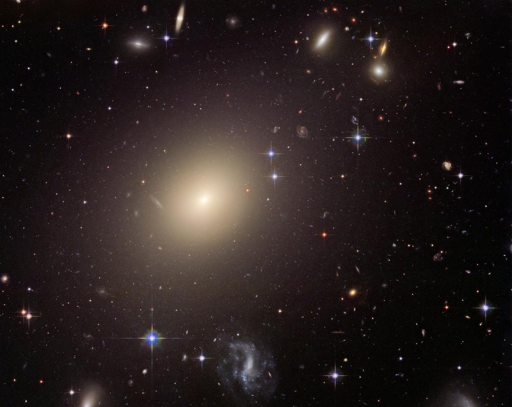 This photo provided by NASA, taken in 2006 by the Hubble Space Telescope, shows a cluster of galaxies. (AP)