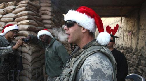 Sgt. Richard A. Darvial from Amery, Wisconsin, of B Company 2-327 infantry 101st Airborne, in Kunar province, Afghanistan, Dec 16, 2010. (AP)