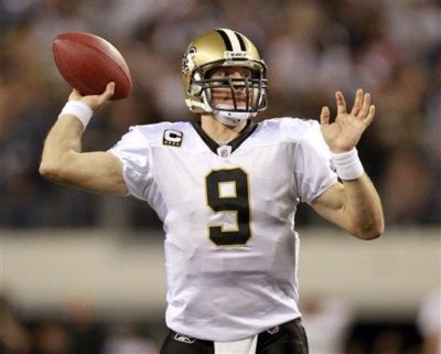 New Orleans Saints quarterback Drew Brees was named Sports Illustrated's Sportsman of the Year Tuesday. (AP Photo/Mike Fuentes)