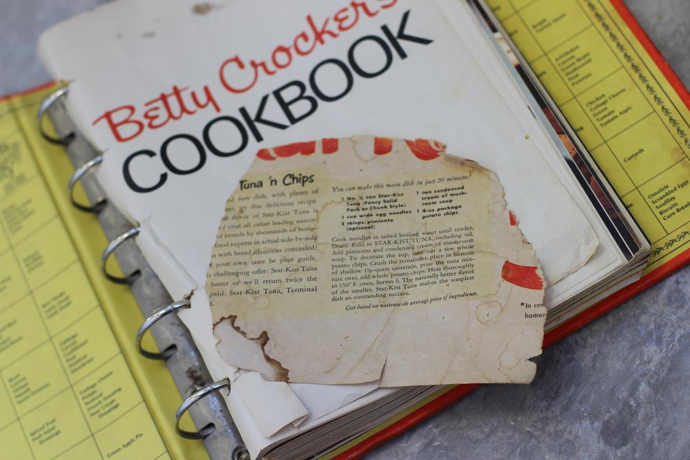Here & Now host Robin Young found her mother's favorite tuna casserole recipe stuck in the pages of a Betty Crocker cookbook. (Jill Ryan/Here & Now)