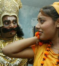 """Theater performance of the """"Ramayana,"""" in India. (AP)"""