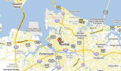 Norfolk, VA (Google Maps)