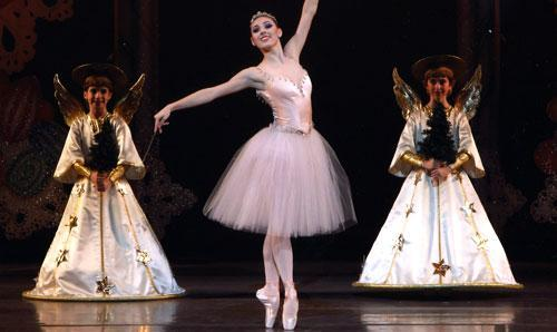 "Tiler Peck performs the role of the Sugarplum Fairy in the New York City Ballet's ""The Nutcracker."" (AP)"