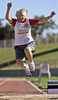 Canada's Olga Kotelko, at 90, at the Masters Games in Sydney, Oct. 16, 2009. (AP)