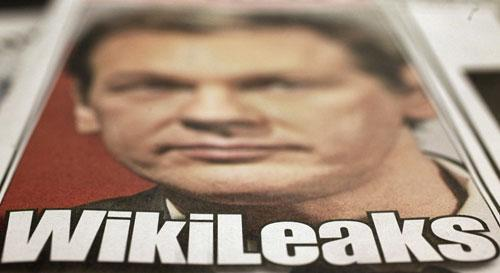 Wikileaks founder Julian Assange is shown in this photo of the cover of the Dec. 1, 2010 edition of the New York Post. (AP)