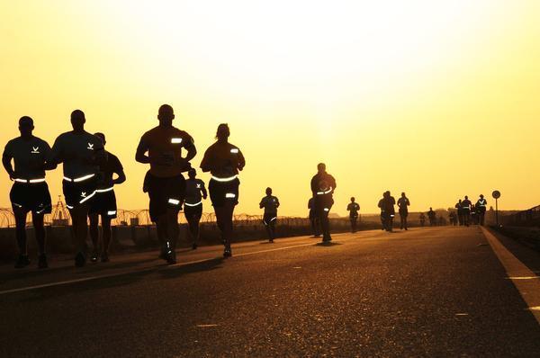 Air Force run at dawn