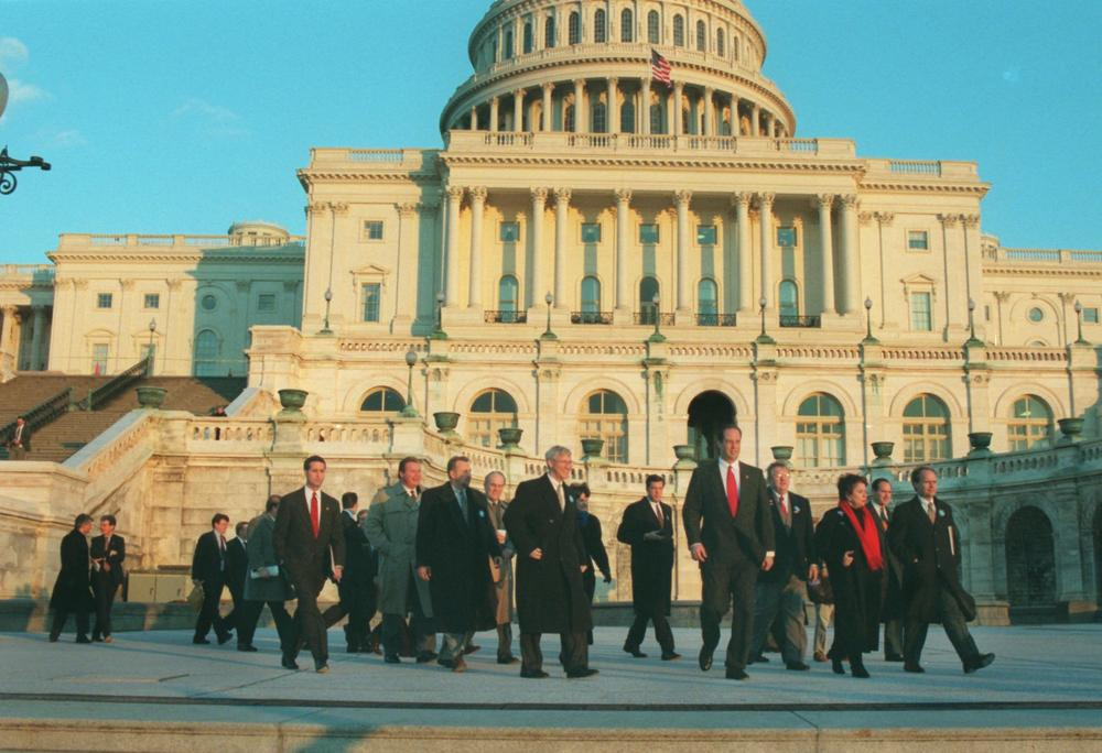 House Republican freshmen on Capitol. (AP)