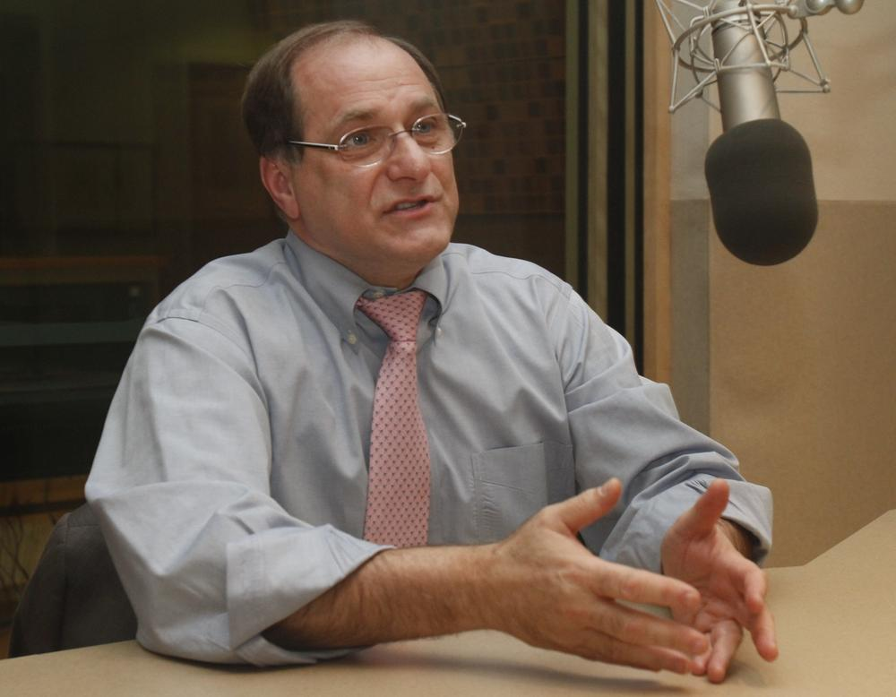 Democratic Congressman Mike Capuano of Massachusetts stopped by WBUR's studios in Boston to explain his plans for the next two years. (Anna Miller/Here & Now)