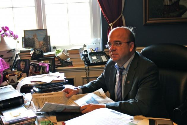 Rep. Jim McGovern (D-MA) isn't losing his office, but he'll lose his position as second in command of the powerful Rules Committee as the Democrats hand over control of the House. (Lisa Tobin/WBUR)