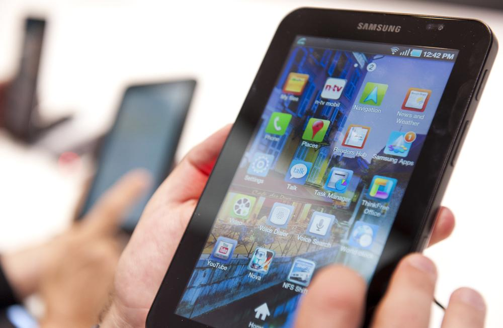 The new Samsung Galaxy Tab, a tablet computer to compete with the Apple iPad. (AP)