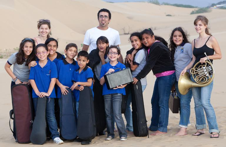 An El Sistema group during the 2009- 2010 Abreu Fellows Program spring residency in Venezuela (Courtesy el Sistema USA)