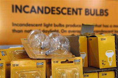 Massive home furnishings retailor, Ikea, prepares to stop selling all of its incandescent bulbs for good. (AP)
