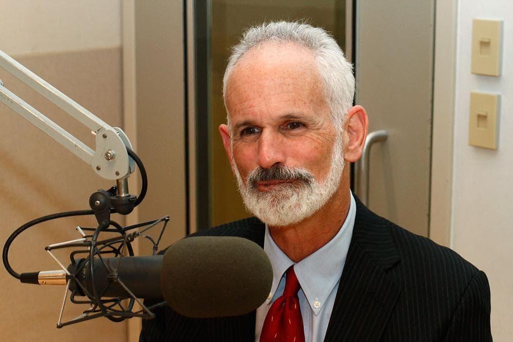 Paul Levy in WBUR's Studio 3 (Andrew Phelps/WBUR)