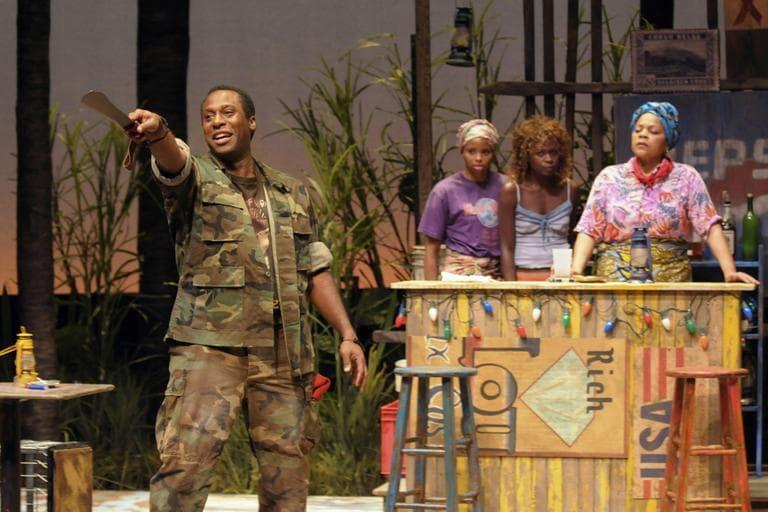 """Actors in the Huntington Theatre Company's """"Ruined."""" (Courtesy of the Huntington Theatre Company)"""