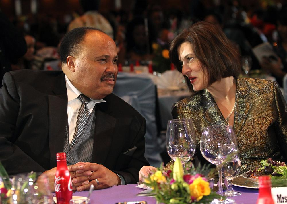 Victoria Kennedy and Martin Luther King, III attend the King Center's Annual Salute to Greatness Awards Dinner on Saturday, Jan. 15, 2011 in Atlanta.  Kennedy accepted the award, posthumously, for her late husband Sen. Ted Kennedy.   (AP Photo/Jenni Girtman)