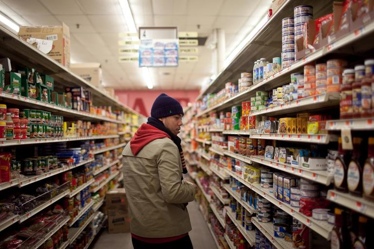 Hi-Lo has been selling food and household goods from Latin America for 47 years. (Nick Dynan for WBUR)