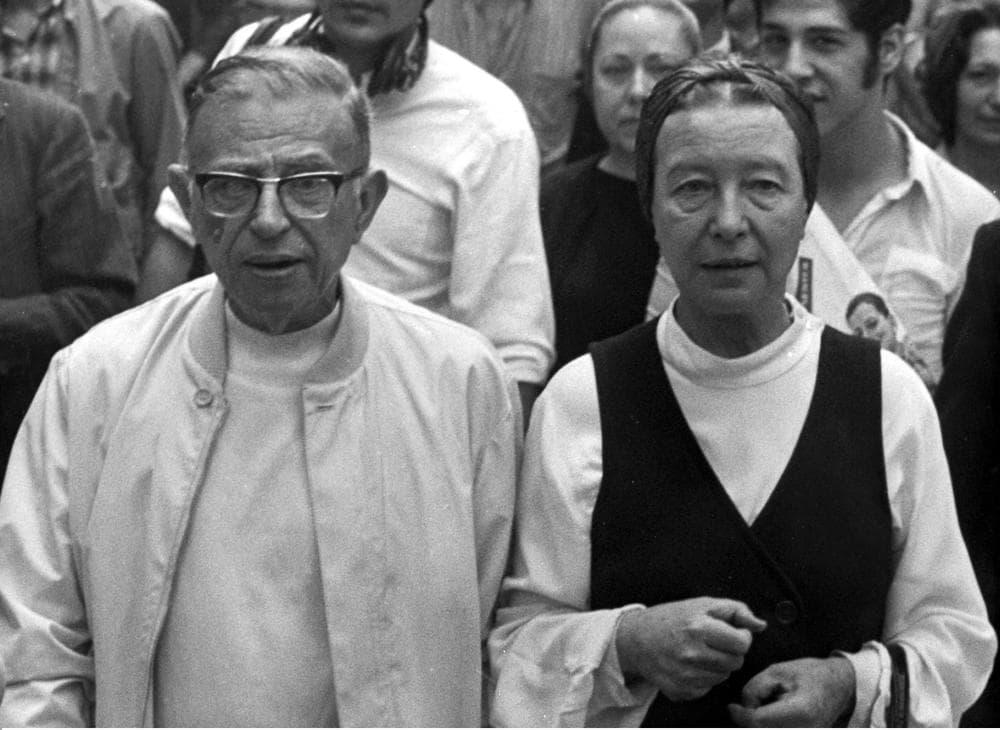 Writer and philosopher Jean-Paul Sartre, left, had a longtime, open relationship with philosopher Simone de Beauvoir.(AP)