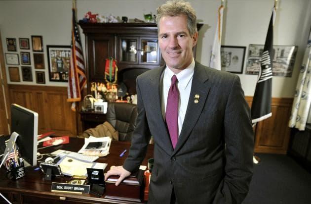 Massachusetts Sen. Scott Brown at his office in Boston, Jan. 11, 2011. (AP)