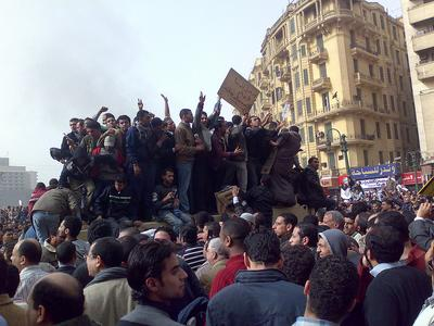 Demonstrators on an Army Truck in Tahrir Square, Cairo. (Ramy Raoof/Flickr)