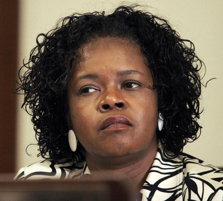In this 2007 file photo, state Sen. Dianne Wilkerson listens during a hearing at the State House. (AP)