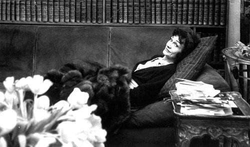 "Gabriel ""Coco"" Chanel in her studio above her Paris salon, April 21, 1954. (AP)"