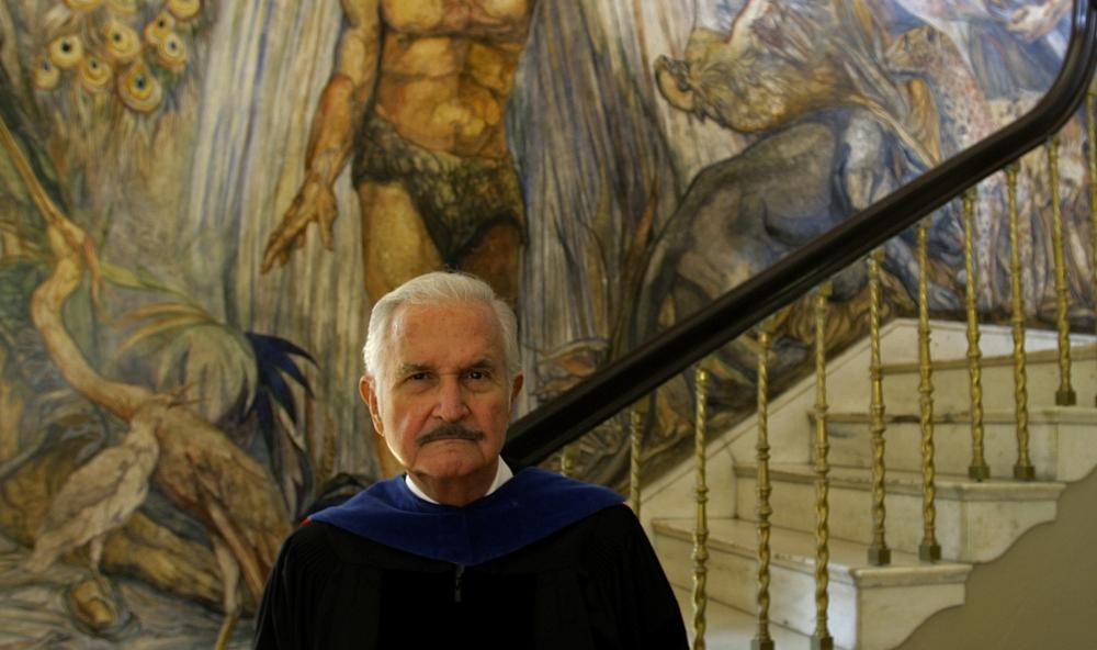 Mexican writer Carlos Fuentes at the University of Puerto Rico in San Juan, March 26, 2010. (AP)