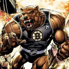 The Guardian Bruin, with its super smell and brute strength, is one of 30 characters to debut at the NHL All-Star Game. (Picture courtesy of the NHL)