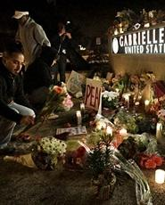 Offices of Rep. Giffords during a vigil in Tucson. (AP)