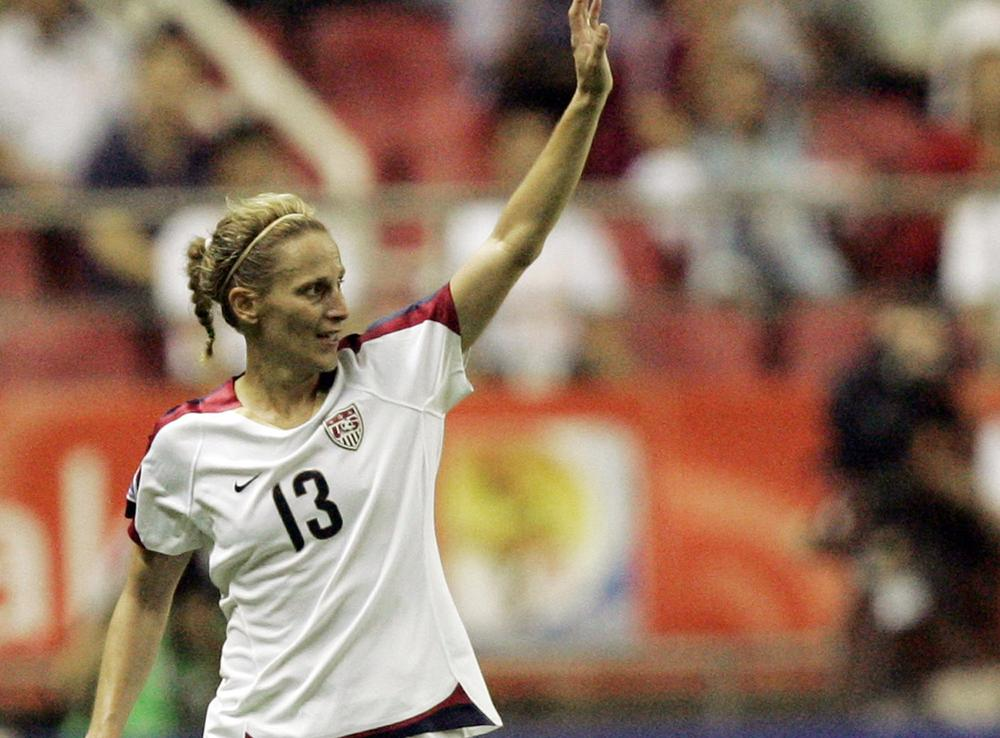 Kristine Lilly at the 2007 Women's World Cup.  (AP)