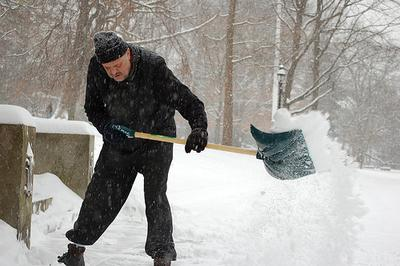 Shoveling snow can be dangerous to your health
