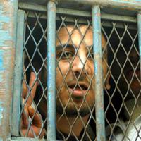 Egyptian blogger, Abdel Kareem Nabil, was jailed for four years for challenging Mubarak's regime. Nabil's lawyers say he was tortured in prison before his release in November of 2010. (AP)