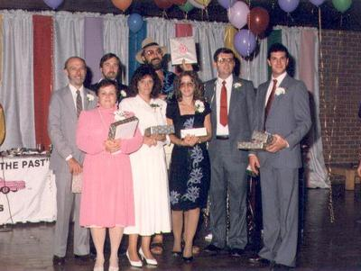 Former DEC employee Dick Green, far left, at a company awards party in the mid-1980s.  (Courtesy Dick Green)