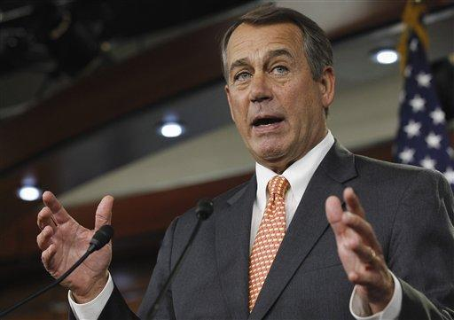House Speaker John Boehner of Ohio kept the House in session today in an attempt to send a completed spending bill to the Senate before adjourning for the holiday weekend. (AP)
