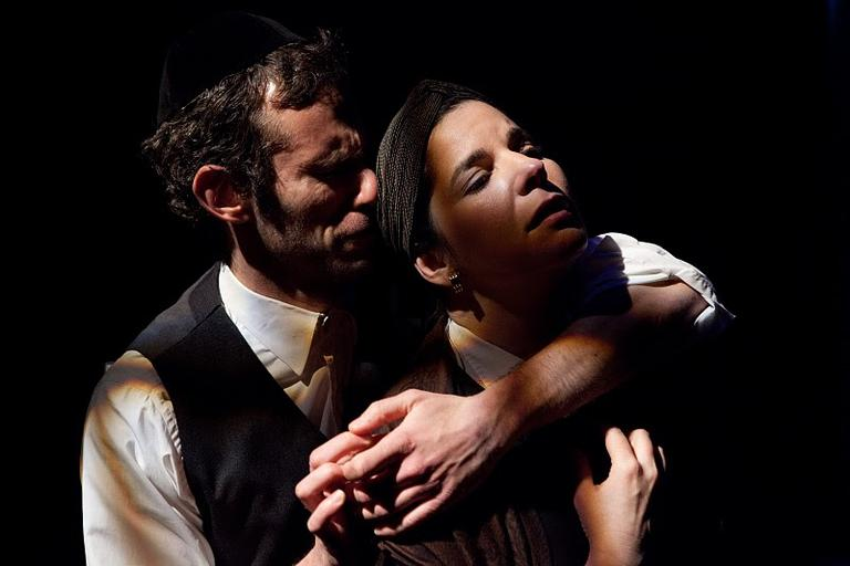 """Jason Schuchman, left, and Anne Gottlieb in """"My Name Is Asher Lev"""" (Courtesy of Mark S. Howard)"""