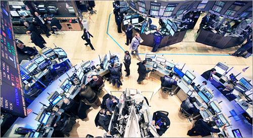 Traders work on the floor of the New York Stock Exchange. (AP)