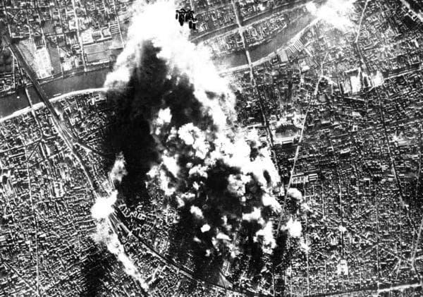 World War Two bombing near Paris