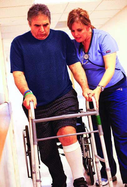 A stroke patient at Spaulding Rehabilitation Hospital